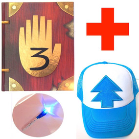 Gravity Falls Diario 3 Tinta Invisible +lampara Gorra Dipper