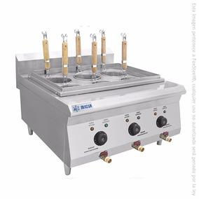 Cocedor Industrial De Pasta 6 Tinas Mesa Migsa Fb-bn600-e605