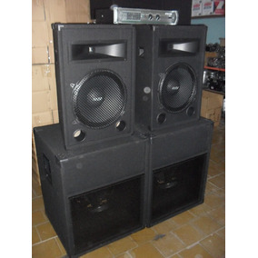 Combo Sonido Profesional 2400w Con Potencia 1200w Apx600