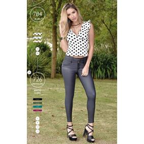 50dc9a13c493 Pantalones Efecto Cuero - Pantalones y Jeans para Mujer al mejor ...