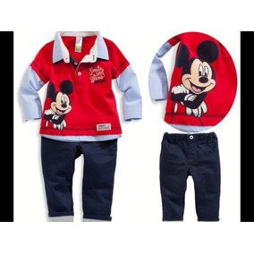 Conjunto Infantil Menino Camisa Mickey E Calça