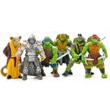 Tortugas Ninja Figuras De Acción Justicia 6 Figuras Juguetes