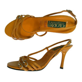 Zapatillas Gloria #5, Piel Cabra, Tacón 9 Envío Gratis