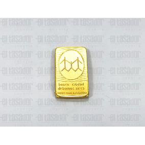 Lingote De Oro 24 Kts. 5 G Banco Ciudad *joyeriaeltasador*