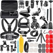 Kit De Accesorios X 50 Gopro Sjcam Action Cam Estuche Ditron