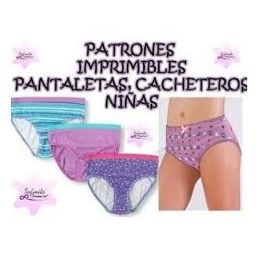 Patrones Pantaletas Cachetero Cubre Pañal Niña Adolecente