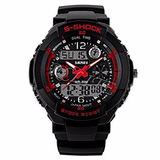 Reloj Deportivo Caballero S-shock Rojo En Panama Waterproof