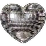 Coração Espelhado De 20 Cm Enfeite Para Festas E Decorações