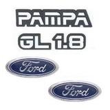 Kit Emblemas Pampa Gl 1.8 - Modelo Original