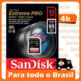 Cartão Sd Extreme Pro 32gb Sandisk Sdhc C10 95mb/s Original