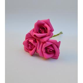 Rosas Artificiais - 24 Flores - Flor Artificial Eva - Pink