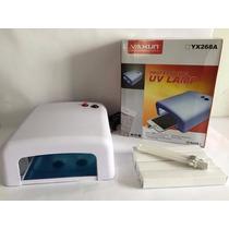 Lampara Uv Yaxun 4 Bombillos Uña Mica Tactil Celular Calidad