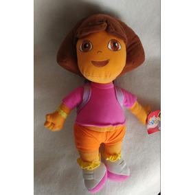 Dora La Exploradora Con Mochila 40cms Alta Nueva Bordada