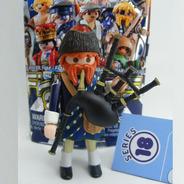 Gaitero Escocés Serie 18 Sobre Azul Playmobil 70369