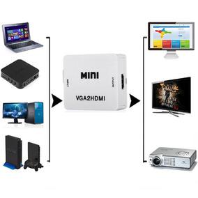 Convertidor Adaptador Vga A Hdmi Con Entrada De Audio