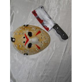 01 Kit Jason Mascara Machado Com Sangue Halloween Massacre
