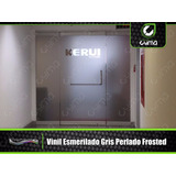 Vinil Esmerilado Frosted Gris 1.22 Para Vidrios X Metro