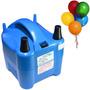 Inflador Elétrico Balões Bexigas 2 Bicos Compressor 680 Watt