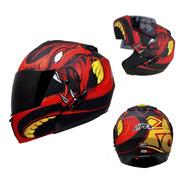 Casco Abatible Para Moto Kov Stealth Viper Rojo
