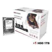 Kit Ip Wifi 2mp/ 1 Nvr Wifi 4 Canales / 4 Camaras Bala Wifi
