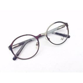 Oculos Masculino Para Grau Armação Metal Grafite Redondo