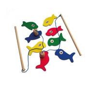 Juego De Pesca Juguete De Madera Didáctico Motricidad