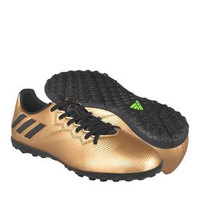 Tenis De Futbol adidas Bb2645 Simipiel Oro 26-28