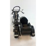 Moto Con Sidecar En Escala-chapa