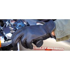 Luva Couro Vaqueta Motociclista Café Racer