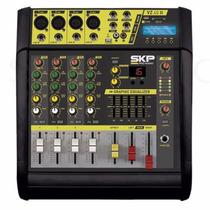 Consola Potenciada Skp Vz-40 Ii 4 Canales 1600 Watts Mp3 Usb