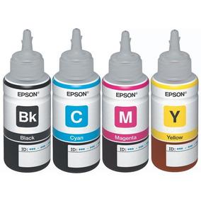 Refil 4 Cores Tinta P/ Impressora Epson L200 L355 L100 L800