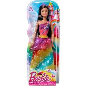 Barbie Reinos Magicos Surtido De Princesas Vestido Arcoiris