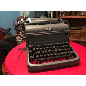 Antigua Máquina De Escribir Royal 40s Excelente