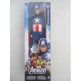 Muñeco Figura Accion Capitan America 30 Cm Original Hasbro
