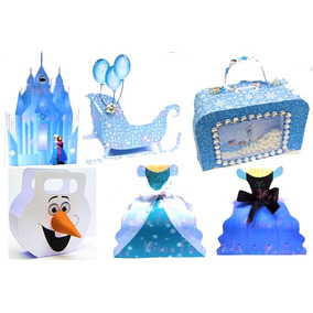50 Caixas Lembrancinha P/festa Da Frozen Fever (231)
