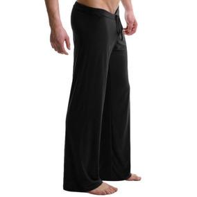 Salón Corto De Los Hombres Pantalones Pijamas... (black, M)