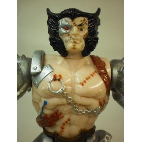 Boneco Wolverine Robô X Men Brinquedo Antigo Marvel Toy Biz
