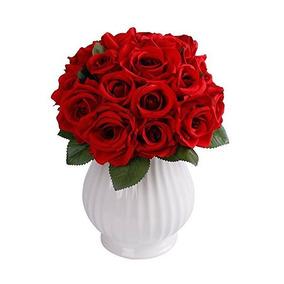 Supla 18 Cabezas De Flores Artificiales Rosas Flor Arreglo F