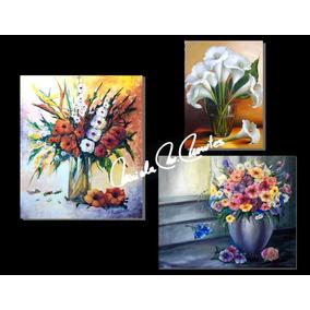 Cuadros Oleo -acrílico Catalogo 55 Floreros Flores