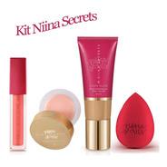 Niina Secrets Batom Liquido + Base + Prime Eudora (vinho Jas