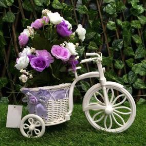 Arranjo Artificiais Lilás / Rosa Bicicleta Provençal 001