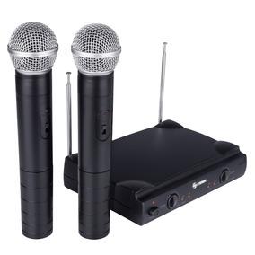 Sistema De 2 Micrófonos Inalámbricos Vhf | Wr-055