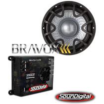 Kit Amplificador Soundigital Sd600.1+ Bravox Uxp 12 Pol. D4