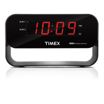 Timex Audio T128b Dual Alarm Clock With Usb Charging Night-l