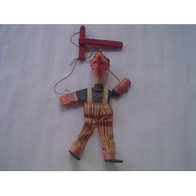 Marionete Anos 40-muito Antiga-perfeita-25 Cm.-frete Gratis