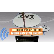 Antena Banda Ka - Internet Via Satélite Com Modem 35mb