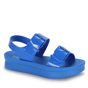 Sandália Anabela Zaxy Walk Sand - Azul