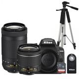 Nikon Nikon D3400 C/lentes 18-55mm, 70-300mm, Tarjeta De 16g