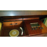 Combinado De Tocadiscos Y Radio - Mueble De Madera