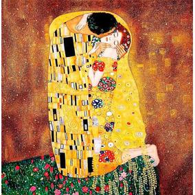 Kit Oleo Pintura Por Números Diy - Obra El Beso Gustav Klimt